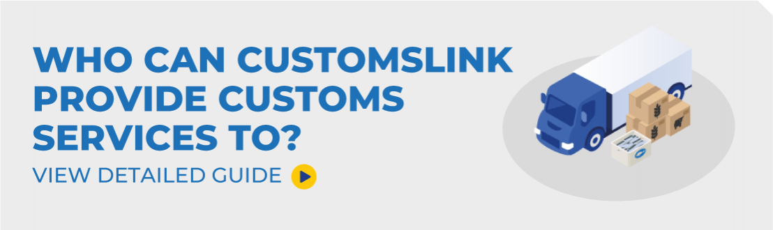 Who Can CustomsLink Provide Services To?
